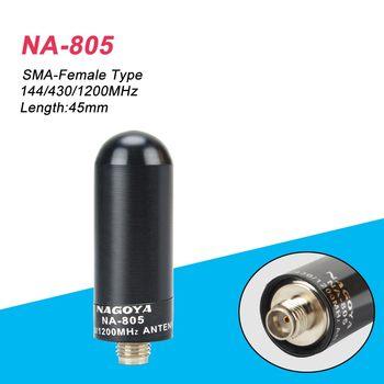 High gain 100% Nagoya NA-805 SMA-F Wide Band Antenna VHF UHF 144/430/1200MHz for Kenwood radio baofeng SMA Female hf antenna цена 2017
