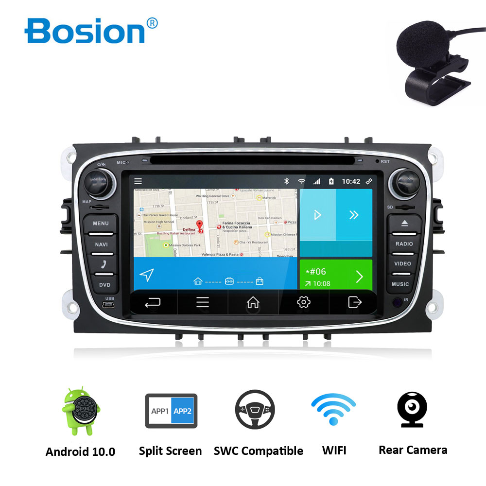 2 din car radio gps Android 10.0 Car DVD for Ford Focus 2 Mondeo C max S max Galaxy with Wifi 3G BT Audio Radio Stereo Head Unitcar dvdradio gps androidcar radio gps android -
