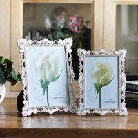 Flower Side Photo Frame For Picture Metal Picutre Frame For Wedding Decor Desktop Frame For Baby Photo Album Art Home Decoration