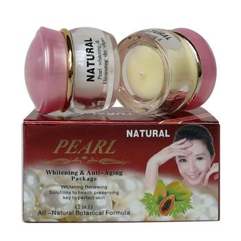 Wysokiej jakości perła wybielanie i anti-aging przeciwzmarszczkowy krem do twarzy 2 butelki w jednym pudełku tanie i dobre opinie Kobiet Face pearl 20g+20g Zestaw 2sets per lot Chiny China (Mainland)