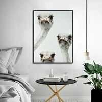 Carino Struzzo Avatar Poster Art Stampa Animale della Tela di Canapa Immagine della Pittura A Casa di Arte Della Parete della Navata Laterale Camera Da Letto Moderna Decorazione Personalizzata