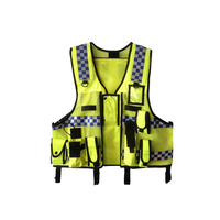 High Visibility Reflective Men Women Breathable Safety Vest with Pockets Traffic Protective Workwear