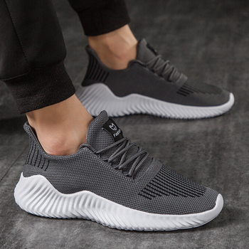 Hot Sale New Mesh Men Shoes Breathable White Men s Sneakers Lac up Lightweight Black