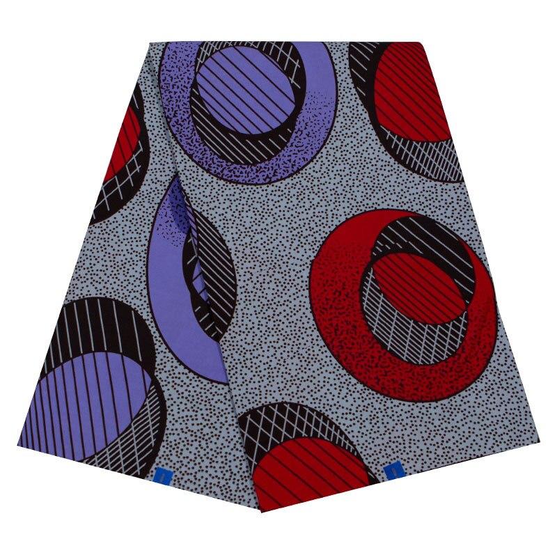 2019 Ankara African Wax Prints 100% Cotton Fabric High Quality 6 Yard African Dutch Wax Fabric For Party Dress