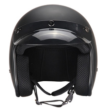 Retro Helmet Unisex Light Fashion Motorcycle Matte Black