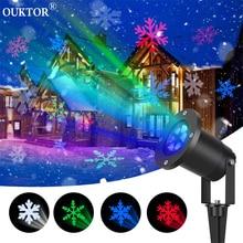 Наружный движущийся снег лазерный проектор лампы Снежинка светодиодный сценический свет для рождества нового года рождественские вечерние садовые снегоходные лампы
