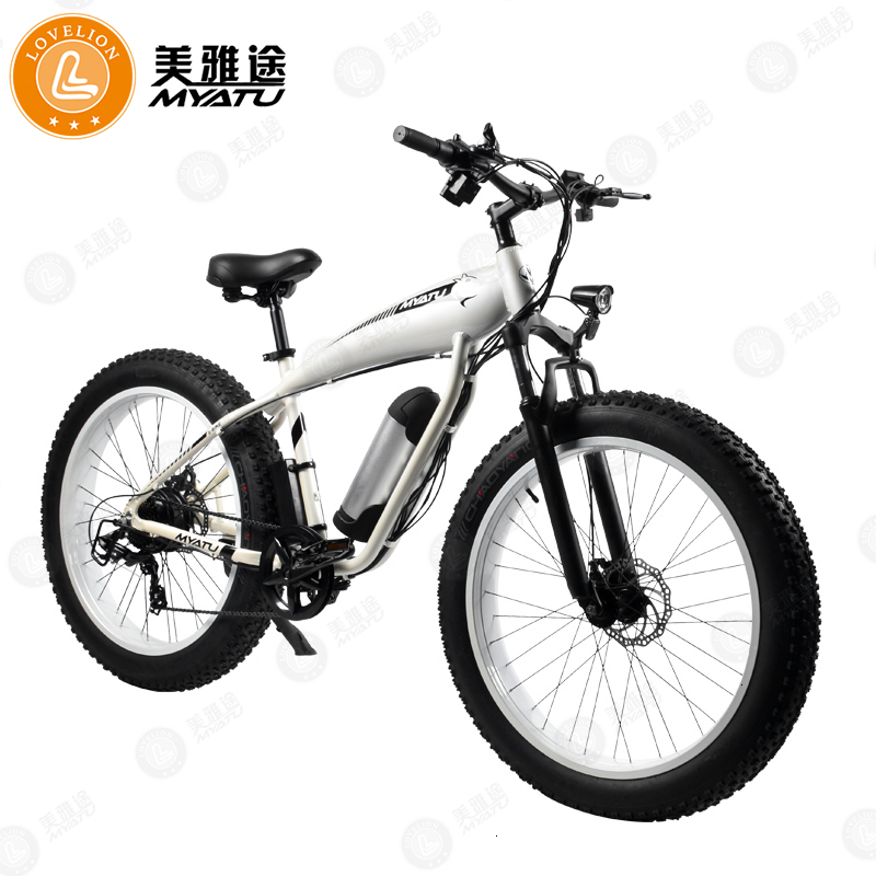 "[MYATU] Mountain powerful electric bicycle bike Steel Framework Speed Shimano 26 ""Wheel Mechanical Discs Brakes ebike"