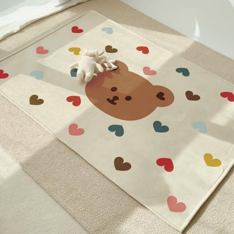 Baby Play Mat Crawling Carpet Room Floor Rug Rectangle Cartoon Print Game Pad Q9QB