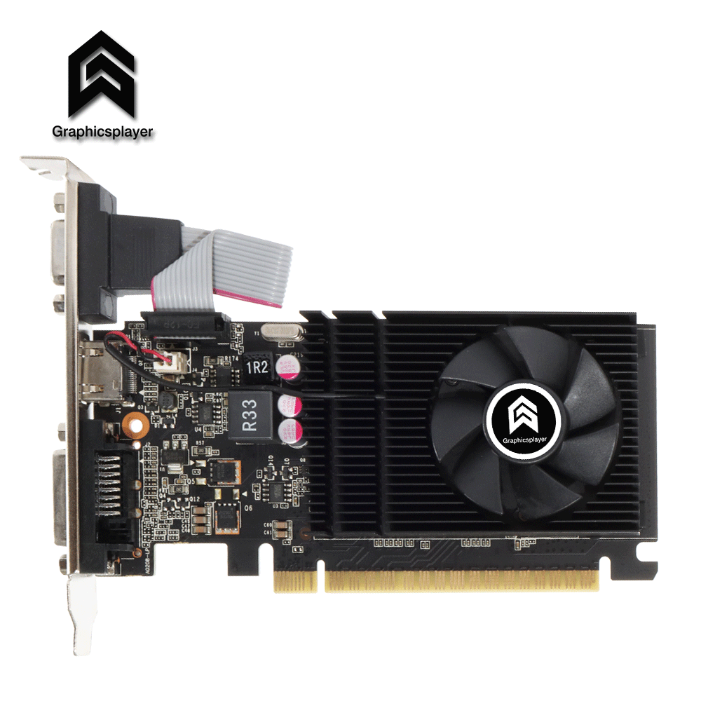 For desktop computer office graphics card original chip GT710 1GB LP for small case For NVIDIA video card