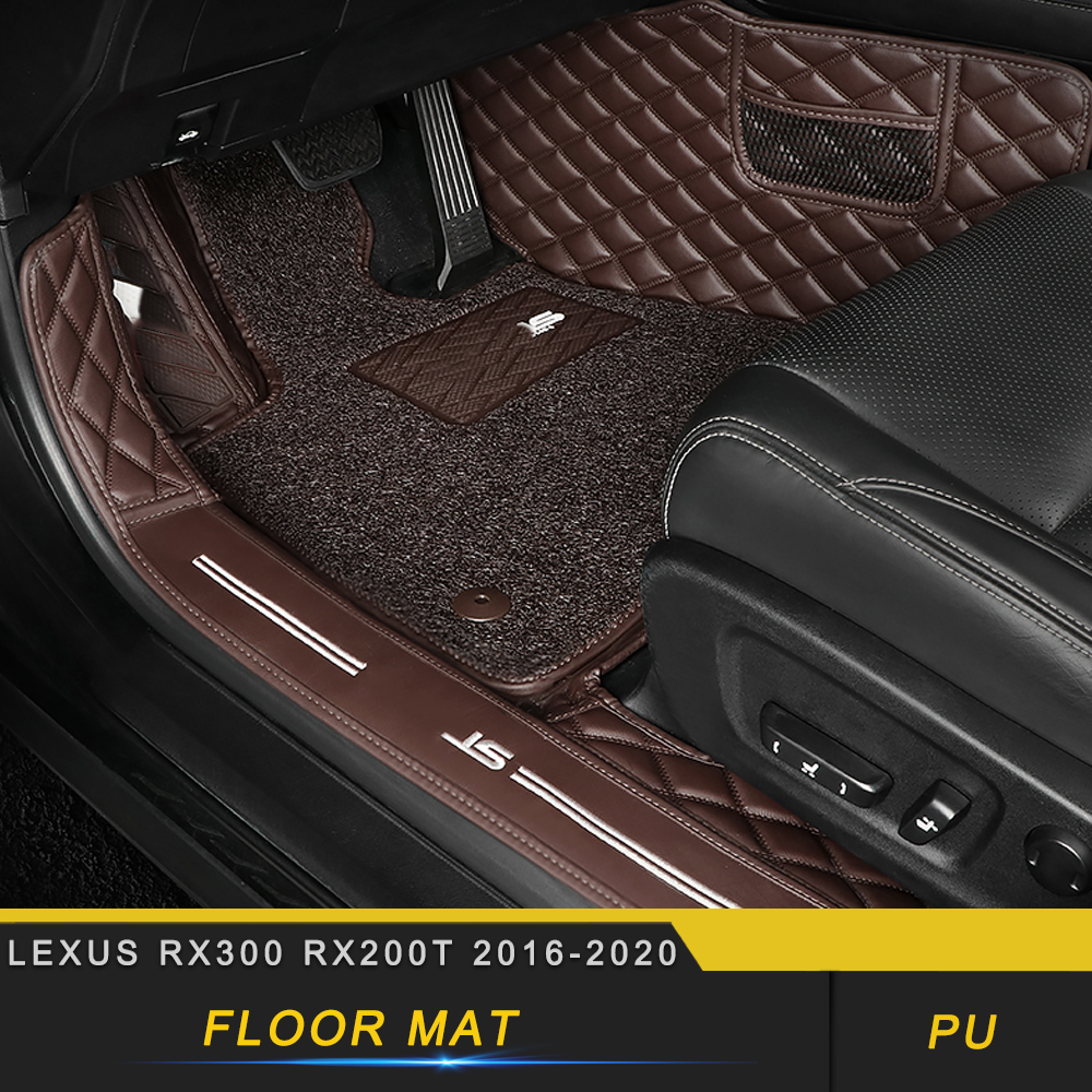 For <font><b>Lexus</b></font> <font><b>RX300</b></font> RX200t 2016-2020 Car Styling Wire Leather <font><b>Floor</b></font> <font><b>Mat</b></font> Protector Pad Carpet Cushion Interior Accessories image
