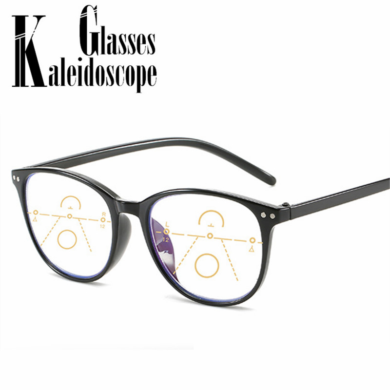 Progressive Multifocal Reading Glasses Women Men Anti-blue Light Hyperopia Glasses Near And Far Presbyopic Spectacles +1.5 2.0
