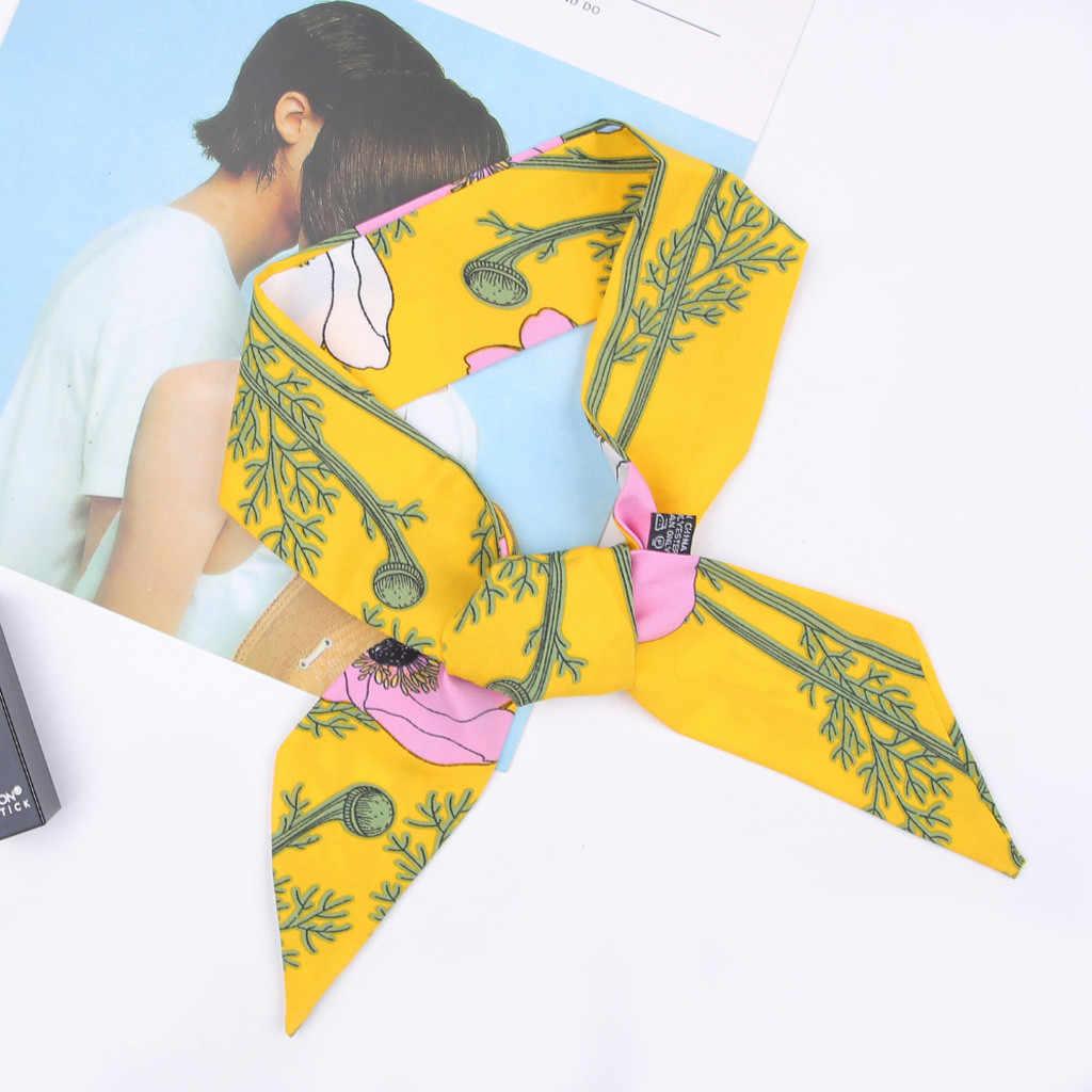 2019 Новый Модный женский галстук-платок с принтом мягкий шелковый шарф обруч с лентой сумка Аксессуары Горячая Распродажа