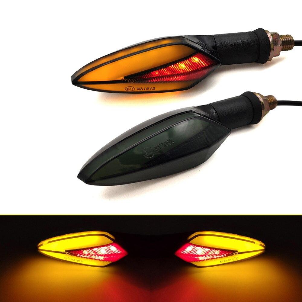 For Kawasaki KX 125 250 450 F 100 KLX 125 250 KDX 250 125 Motorcycle LED Universal Flowing Blinker Light Waterproof Turn Signals