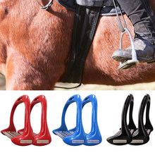 1 para sprzęt pedał koń strzemiona antypoślizgowe jeździectwo bezpieczeństwa stopu Aluminium bieżniki lekkie boisko sportowe #734