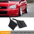 Спойлер переднего бампера для Subaru Impreza WRX Sedan STI 2004 2005 2 шт./компл.  Черный Автомобильный Стайлинг