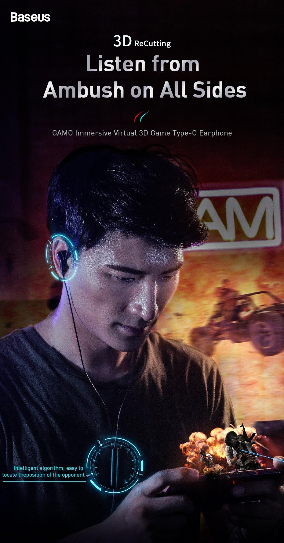 Baseus GAMO C18 Type C Gaming Earphone 5
