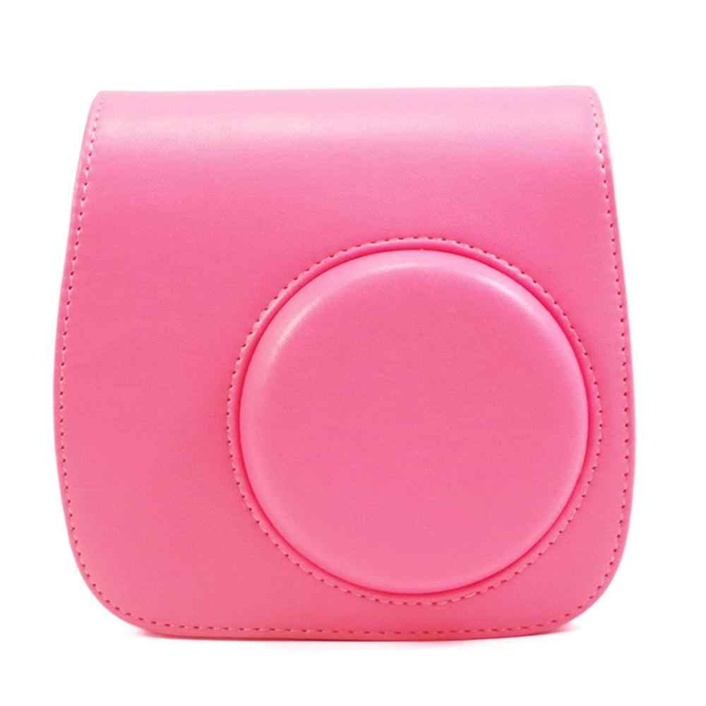 Para Fuji Fujifilm Instax Mini Filme 9 8 Cores Saco Protetor de Câmera Caso Capa de Couro PU Bolsa de Ombro