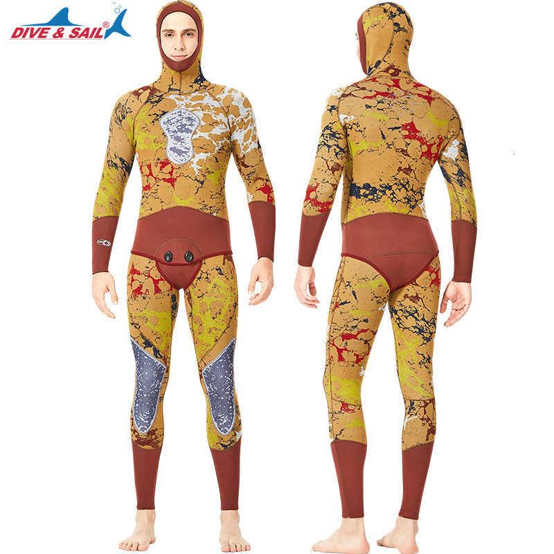 Vrouwen Badpak 3mm Neopreen Scuba Dive Surfen Snorkelen Onderwatervissers Hooded Jumpsuit Mannen Lange Mouw Een stuk Wetsuit