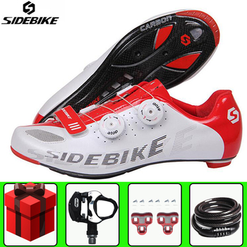 SIDEBIKE road cycling shoes sapatilha ciclismo Carbon Fiber Bike Bicycle Professional Competition Ultralight men sneakers women
