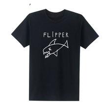 New Flipper Nirvana Kurt Cobain Rock Music Band T-shirt Unisex Cotton O Neck Hip Hop T Shirt with Short Sleeves  Size s-XXL