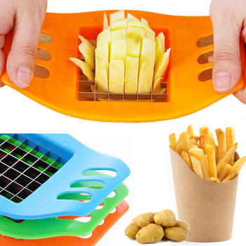 French Fry Potato Chip Cutter Stainless Steel Vegetable Fruit Chopper Chips Easy Cut Kitchen Tools Gadgets Accessories image