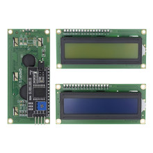 TENSTAR ROBOT LCD1602+I2C LCD 1602 module Blue/Green screen PCF8574 IIC/I2C LCD1602 Adapter plate for arduino(China)