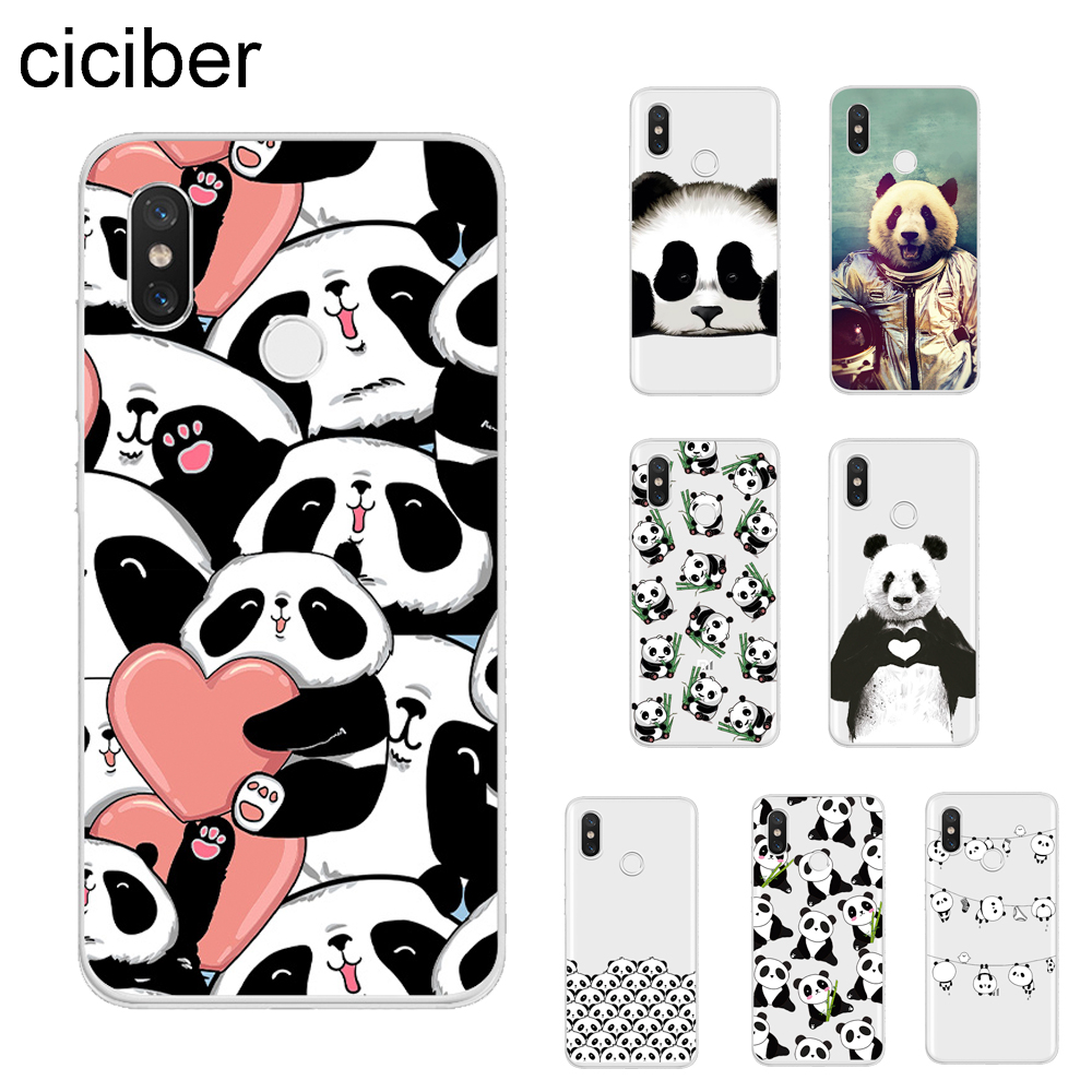 ciciber Pandas Cover For <font><b>Xiaomi</b></font> MIX MAX 3 2 1 S Pro <font><b>MI</b></font> A2 A1 <font><b>9</b></font> 8 6 5 X 5C 5S Plus Lite <font><b>SE</b></font> Pocophone F1 Phone Cases Soft TPU <font><b>Capa</b></font> image