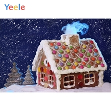 Yeele Christmas Backdrop Winter Snow Cartoon Candy House Photography Background Photo Studio Photobooth Shoot Photophone Props