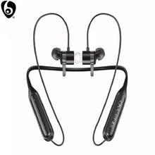 OVLENG S18 kablosuz Bluetooth kulaklık spor gerdanlık manyetik kulakiçi mikrofon Handsfree Stereo bas su geçirmez kulaklık