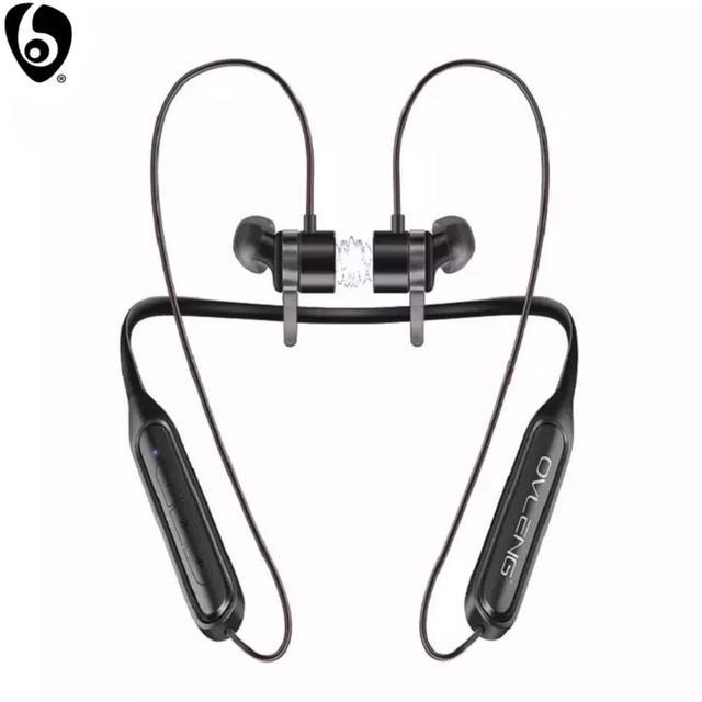 Ovleng S18 Draadloze Bluetooth Koptelefoon Sport Nekband Magnetische Oordopjes Microfoon Handsfree Stereo Bass Waterdichte Oortelefoon