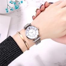Luxury Brand Fashion Diamond Silver Watches For Women Stainless Steel Waterproof Quartz Wristwatch Relogio Feminino Clock Gift цена 2017