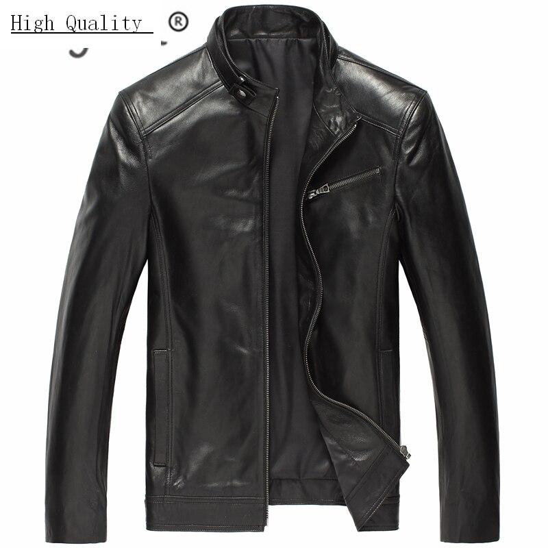 100% Genuine Leather Jacket Men Winter Sheep Skin Coat Man Clothes 2020 Streetwear Slim Fit Leather Jackets Hiver DK108
