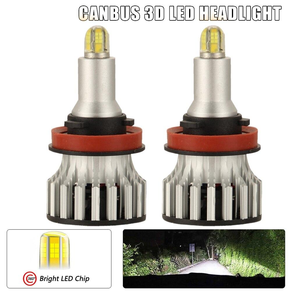 H11 Светодиодный светильник с головкой, 24 CSP 8 сторон 360 градусов Автомобильный светодиодный светильник ing, 120 Вт 18000LM 6500K противотуманный светильник H8 H9 автомобильные лампы 2 шт.