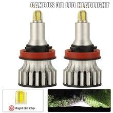 H11 lâmpadas do farol do diodo emissor de luz, 24 csp 8 lados 360 graus carro conduziu a iluminação, 120w 18000lm 6500k luz de nevoeiro lâmpadas h8 h9 automóvel 2 pces