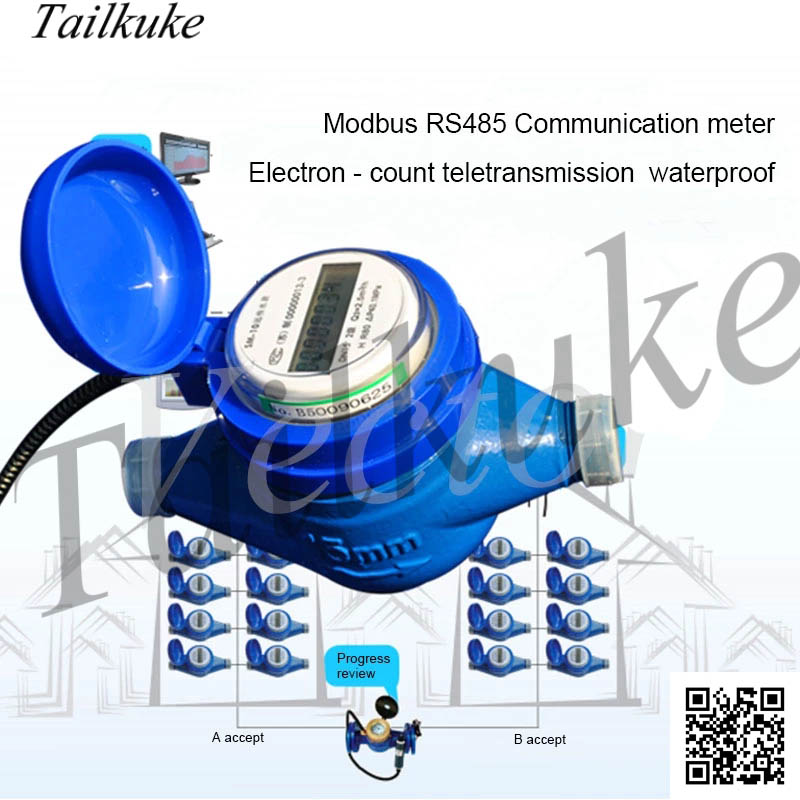 Electronic Remote Intelligent Water Meter Modbus/188 Protocol RS485 Communication Waterproof IP68