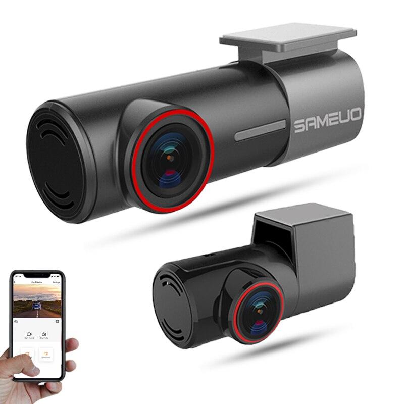 Sameuo u700 wifi traço cam 2k frente e traseira 1080p 2 lente da câmera cardvr carro inteligente dvrs visão noturna automática 24h estacionamento monitor loop