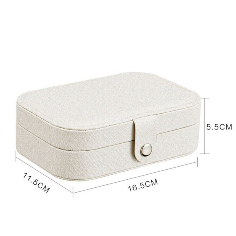 Necklace//Pendant Classy Polished Wood Travel//Portable Jewelry Box 4 Ring Slots