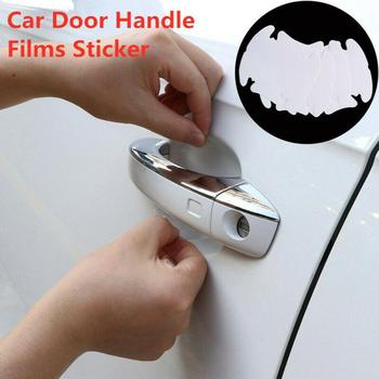 8pcs car door handle sticker protective film For Toyota verso avensi corolla prius rav4 car-styling Yaris hilux accessories J2Q7 image