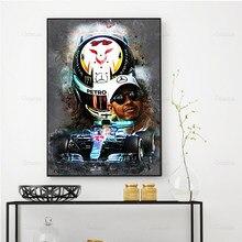 Racer Speler F1 Moderne Canvas Schilderij Posters Abstract Hd Prints Modulaire Wall Art Unieke Foto 'S Voor Woonkamer Slaapkamer Frame