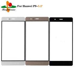 10 шт./партия внешний экран для Huawei P9 EVA-L19 Передняя Сенсорная панель ЖК-дисплей внешняя стеклянная крышка Замена объектива