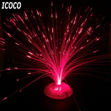 ICOCO Romantic Color Changing LED Fiber Optic Nightlight Battery Powered Christmas Lamp for Party Home Decoration
