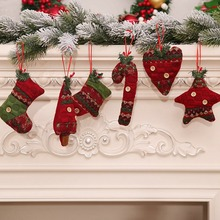 Рождественские украшения, Рождественская перчатка, костыль, Рождественская елка, игрушка, кукла, висячая дверь, тарелка, украшения, вечерние, рождественские украшения