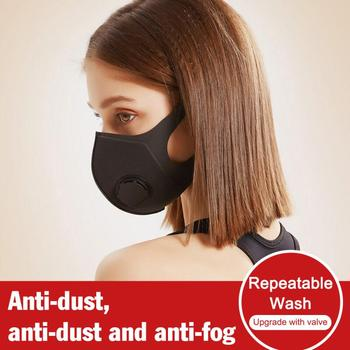 1PC Washable Face Mask Anti Dust Breathable Sponge Facial Mask With Filter Black White Fashion Earloop Mouth-muffle Adults TSLM1 1
