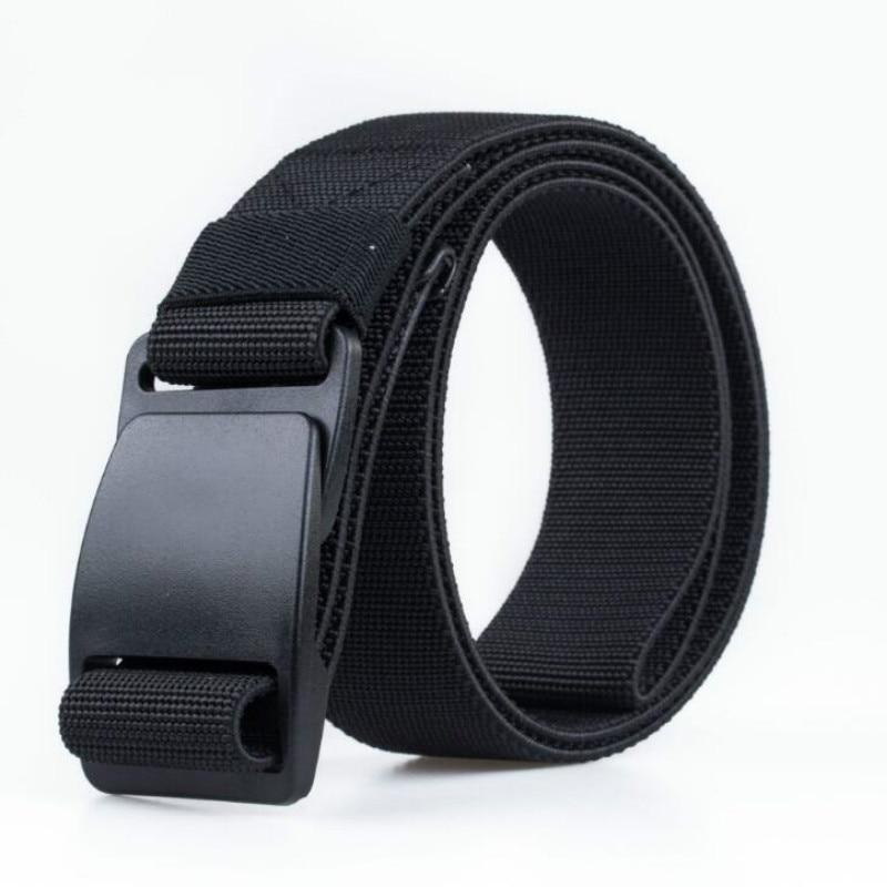 Men's 2019 Brand Unisex Design Plastic Steel Buckle Belt Man Quality Canvas Elastic Belts Waistband Casual Men Ceinture Cinto