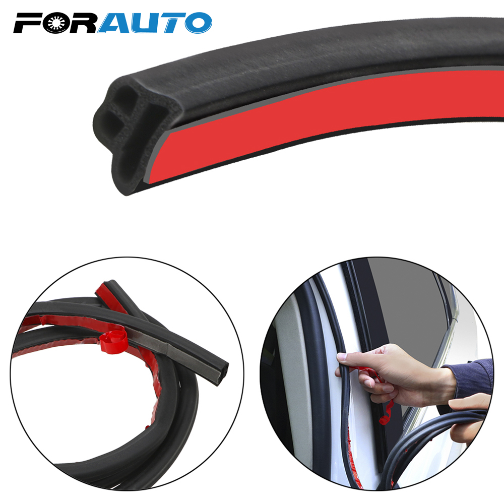 FORAUTO Auto Door Rubber Seal Strip Car Trunk Edge Sealing Adhesive Stickers L-type Sound Insulation Sealing Strips Car Sealer