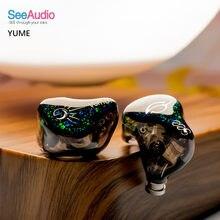 Fengru seeaudio yume 1 dd + 2 ba 3 unidade híbrido de alta fidelidade fone de ouvido dj monitor música iem 2pin 0.78mm 5n occ destacar fone de ouvido