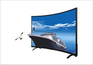 Large size Curved lcd monito 4K LED wifi TV 60'' inch Smart TV Android system multi langauges curved led Television TV