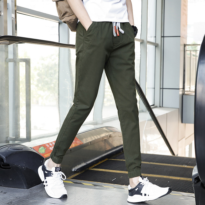 New Style MEN'S Casual Pants Korean-style Slim Models Elasticity Breathable 9902