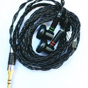 Image 4 - Auriculares personalizados hechos a mano de 3,5mm, cascos HiFi de 400 Ohm, MMCX, Cable plateado OFC de 8 hebras