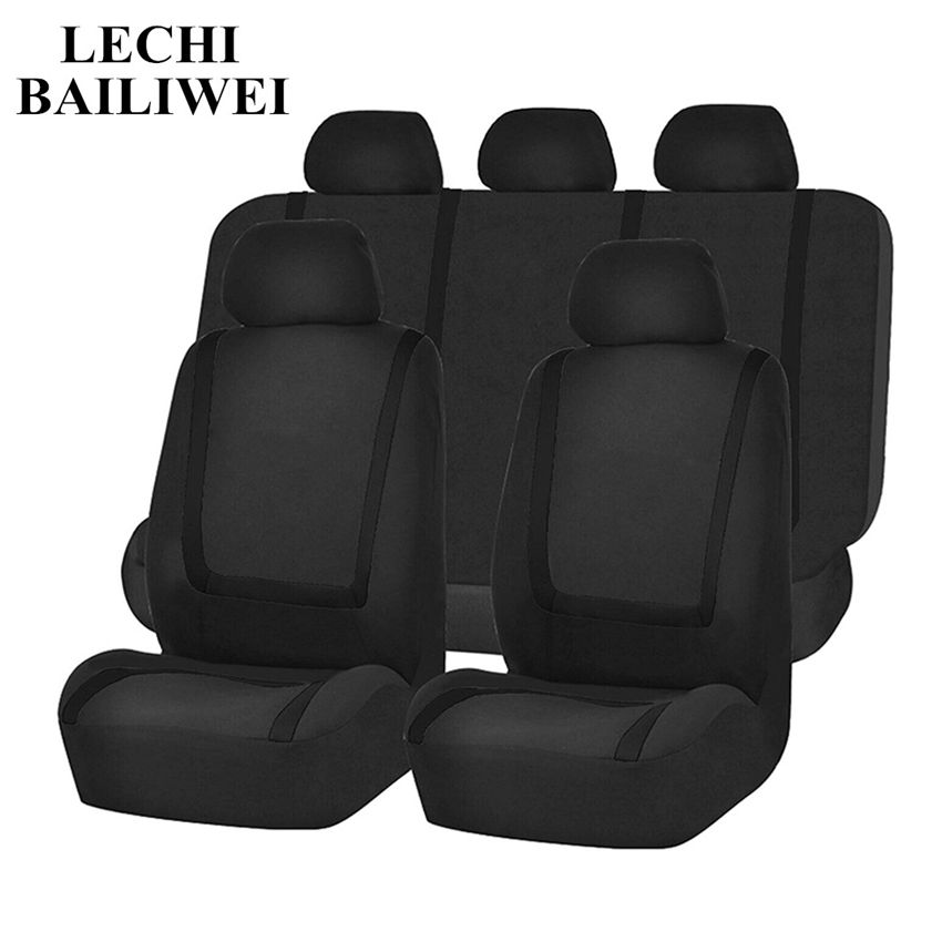 Universal Car Seat Cover 9Pcs Sets Car Seat Covers Interior Accessories Automotive interior accessories Vehicle Seat Protector Automobiles Seat Covers     - title=